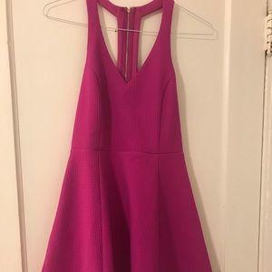 Magenta cocktail dress